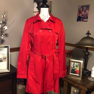 Kenneth Cole Reaction Red Trench Coat